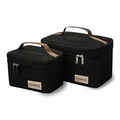 189868f021b2 NEW Hango Insulated Lunch Box Cooler Bag Set of 2 Sizes Large and Small  Black in Home   Garden
