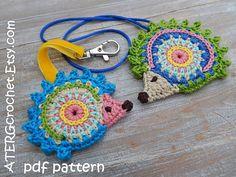 Crochet pattern HEDGEHOG ornaments by ATERGcrochet by ATERGcrochet