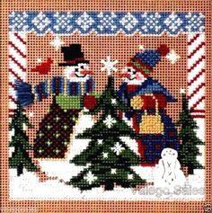 "Mill Hill Buttons Beads Cross Stitch Kit 5"" x 5"" ~ TREE SHOPPING Sale #241 #MillHill"