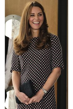 February 12 Visiting Portsmouth, England The Duchess of Cambridge's Best Maternity Style - HarpersBAZAAR.com