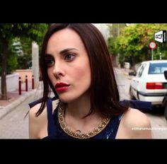 Natalia Pappa wearing Klaidra fringe necklace at #tinmanamoutinlenegianni, Ant1 Tv