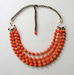 Necklace Coral. Collar de Coral.