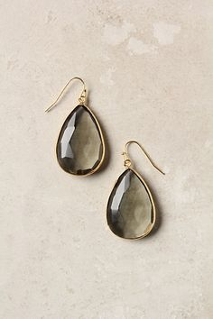 Anthro Gold Rung Earrings-Gray $34 backup color-Sky These would be worth waiting for to go on sale