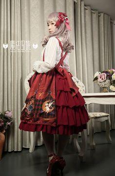 ~Magic Fighting Cats~ Lolita Skirt - My Lolita Dress