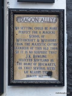 J K Rowling street names - now Edinburgh's Candlemaker Row has this claim to fame Diagon Alley, Street Names, Northern Ireland, Edinburgh, Hogwarts, First Time, Scotland, Harry Potter, Fans
