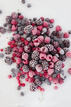 Frost covered berries are so beautiful.