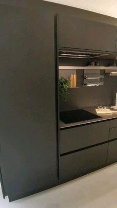 Luxury Kitchen Design, Kitchen Room Design, Home Room Design, Luxury Kitchens, Interior Design Kitchen, Black Interior Design, Black Kitchens, Kitchen Cupboard Designs, Pantry Design