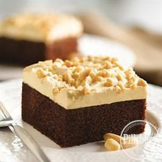 Peanut Butter Topped #Chocolate #Cake from Pillsbury® Baking