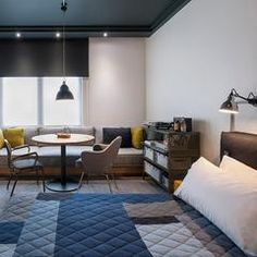Image 1 of 17 from gallery of Ace Hotel London / Universal Design Studio. Courtesy of Ace Hotel Ace Hotel London, London Hotels, Tokyo Hotels, Casa Hotel, Hotel Bed, Great Hotel, Hotel Interiors, Modern Interiors, Design Hotel