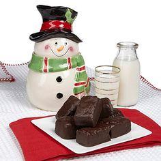 David's Snowman Jar with 12 oz. Brownies