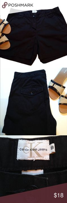 Calvin Klein Black Shorts Black Cotton Chino Shorts by Calvin Klein                     5 inch inseam. Button closure & zip. Excellent condition. No fading or flaws. Sandals are also available in my closet. Use bundle feature for discount. Lots of size 8 shorts listed! Calvin Klein Shorts