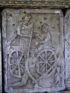 Adamclisi Metope. Legionary fighting Dacians