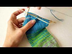Shadow Wrapped Short Row Sock Heel Part 1 - YouTube