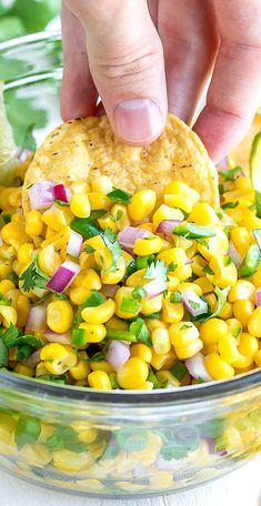 This copycat Chipotle corn salsa is quick easy and crazy delicious Dive in with tortilla chips or use it to top burritos tacos salads nachos and moreRecipe yields 2 cups salsa. Corn Recipes, Copycat Recipes, Mexican Food Recipes, Salad Recipes, Vegetarian Recipes, Chicken Recipes, Cooking Recipes, Healthy Recipes, Cabbage Recipes