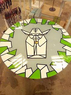 'origami table #3  my favorite so far...'  #laurakampf #table