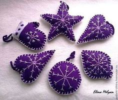 Purple ornaments