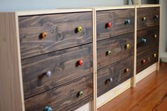 Ikea Rast Makeover.. love the idea of placing  the rasts side by side for a longer dresser look.
