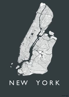New York map Guide New York, Pinstriping, A New York Minute, New York Photos, Manhattan New York, I Love Ny, New York Art, Graphic Illustration, Illustrations