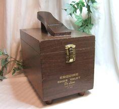 Vintage Esquire Shoe Valet De Lux shoe shine by vintagehillbillies, $29.00