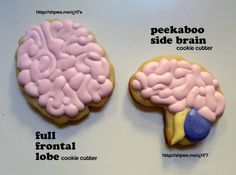 Peekaboo Side Brain Cookie Cutter by thespiansmc on Shapeways. Learn more before you buy, or discover other cool products in Dining. Brain Injury Awareness, Culinary Classes, Cookie Bars, Cookie Decorating, Sugar Cookies, Cookie Cutters, Cookie Ideas, Baking Ideas, Costume Ideas