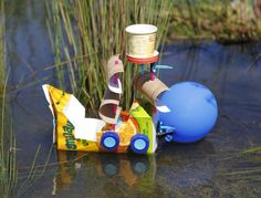 Makedo Balloon Boat