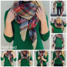 Glitter & Bow: How To : Wear a Blanket Scarf