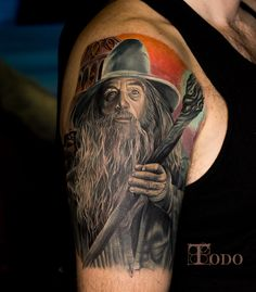 Tolkien with the top 51 best Lord Of The Rings tattoo designs. Explore cool ideas from One Ring to Gandalf and more. Gandalf Tattoo, Hobbit Tattoo, Tolkien Tattoo, Lotr Tattoo, Nerdy Tattoos, Ring Tattoos, Body Art Tattoos, Tattoo Drawings, Tattoos For Guys