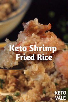 Diet Recipes Keto Shrimp Cauliflower Fried Rice Low Carb Recipe for Ketogenic Diet Ketogenic Diet Results, Ketogenic Diet Meal Plan, Diet Meal Plans, Ketogenic Recipes, Low Carb Recipes, Diet Recipes, Cooking Recipes, Healthy Recipes, Keto Meal