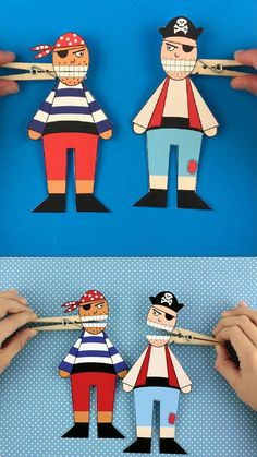 Paper Crafts Origami, Paper Crafts For Kids, Craft Activities For Kids, Book Crafts, Preschool Crafts, Diy For Kids, Fun Crafts, Etsy Crafts, Preschool Pirate Crafts