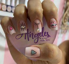 Nail Spa, Beauty, Glue On Nails, Nail Manicure, Fingernail Designs, Hands, Beauty Illustration