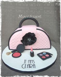 Gâteau sac à main et maquillage Handbag and make up cake