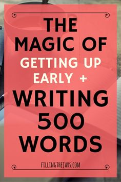 Click through to read about rediscovering the magic of writing 500 words a day -- and how to find time to do it. A daily writing habit is the perfect complement to mindfulness, intentional living, and self care. Plus, grab some prompts to get you started! Creative Writing Tips, Book Writing Tips, Writing Process, Writing Resources, Writing Help, Writing Skills, Blog Writing, Creative Writing Exercises, Writing Workshop