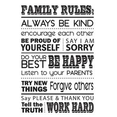 Household rules.