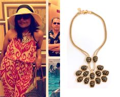 Remember that time Mindy went on a writers' retreat to Vegas? Well, the necklace she wore there is on sale. Trina Turk Cabochon Neckla...
