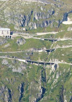 Looking from Furka towards Grimsell Pass, Switzerland