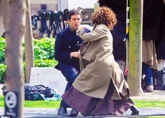 Helena Bonham Carter double packs a punch as she fights for her rights on set of new movie