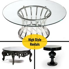 Designer party and event Tables On Rent