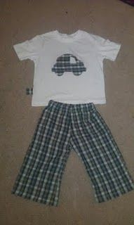 The pj lounge pants I made for the boy