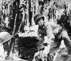 WORLD WAR II: BOUGAINVILLE. U.S. Army soldier prepares to throw a hand grenade during the fighting at Empress Augusta Bay, Bougainville, New Guinea. Photographed late 1943.