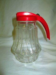 Great Vintage Mid Century Federal Glass Syrup by CarolsTrueVintage