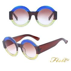 448d5752dd863 Oversized Round Sunglasses Women Gradient Lens Sun Glasses Women Luxury