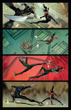 Marvel Defenders great example of action fight scene on American comic book art by comic artist David Marquez reference Best Picture For Comic Book display For Your Taste You are looking for Joker Comic Book, Comic Book Font, Spiderman Comic Books, Comic Book Layout, Comic Book Girl, Comic Book Artists, Comic Artist, Comic Book Style Art, Comic Book Characters