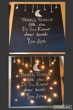 Twinkle twinkle little star do you know how loved you are lighted canvas