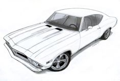 1968 Chevrolet Chevelle SS Pro Touring Drawing by Vertualissimo.deviantart.com on @DeviantArt