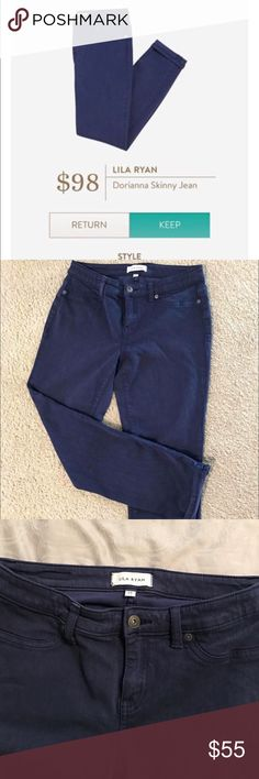 STITCH FIX Lila Ryan Dorianna jeans Really cute navy jeans from stitchfix! Size 28 and are skinny cropped jeans. Worn once, possibly twice. Great condition and are like new. Smoke free home Jeans Ankle & Cropped