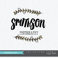 Premade Photography Logo and Watermark Design  by TheAutumnRabbit