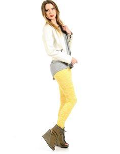 Zebra Print Leggings Yellow