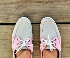 Pink Sperrys. Need these for summer
