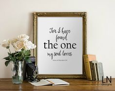 Instant 'for i have found the one my soul by mylovenotedesigns