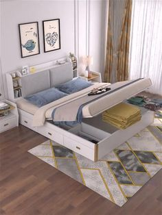 Small Room Design Bedroom, Small House Interior Design, Bedroom Closet Design, Bedroom Furniture Design, Home Room Design, Bed Furniture, Modern Luxury Bedroom, Stylish Bedroom, Luxurious Bedrooms
